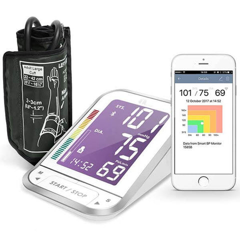Bluetooth Digital Blood Pressure Monitor with Large LCD by 1byone