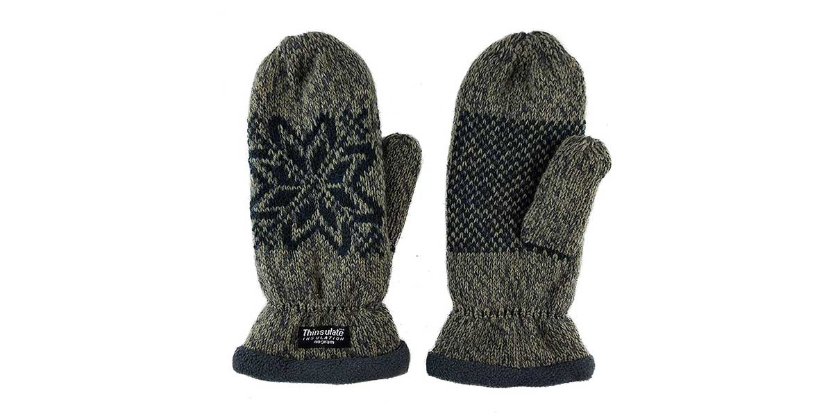 Bruceriver Women Snowflake Knit Mittens