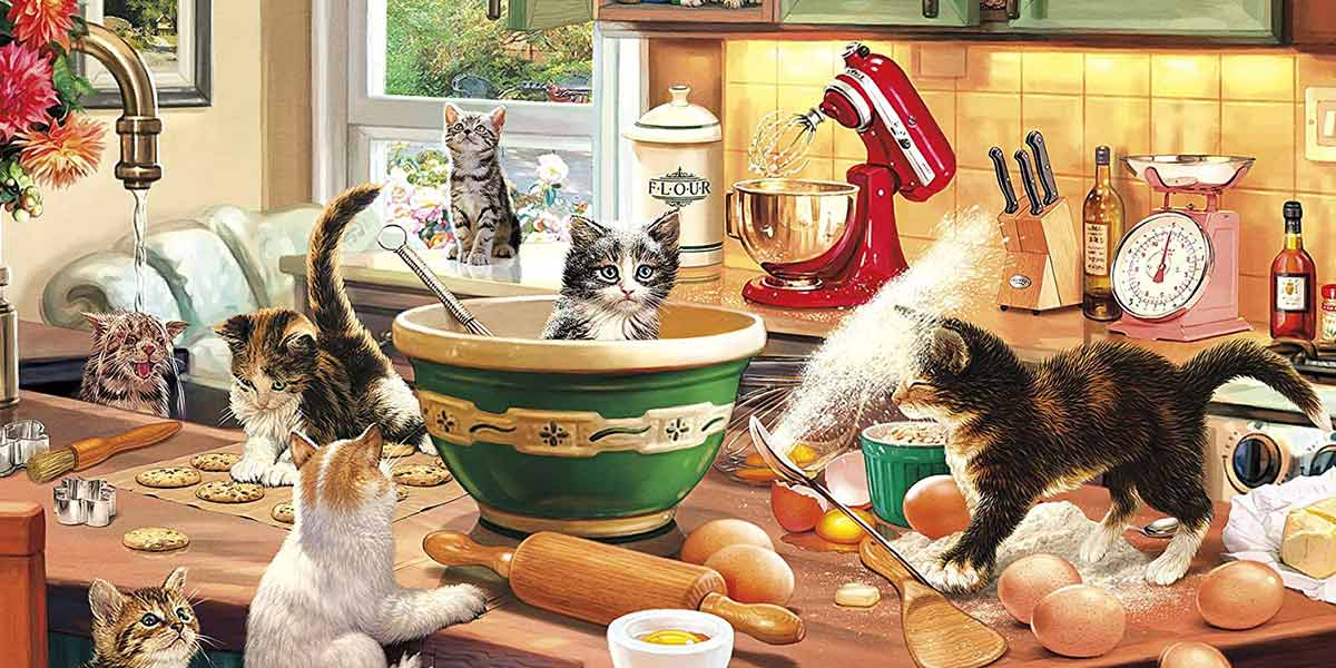 Buffalo Games Cats Collection - Kitten Kitchen Capers