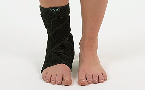 Right leg with ankle brace support