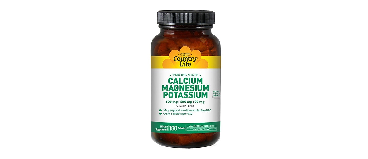 Calcium, Potassium and Magnesium Tablets by CountryLife
