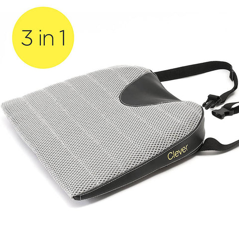 Car Seat Cushion With Strap by Clever Yellow