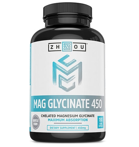Chelated Magnesium Supplement by Zhou Nutrition