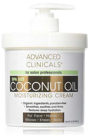 Coconut Oil Cream for Face by Advanced Clinicals