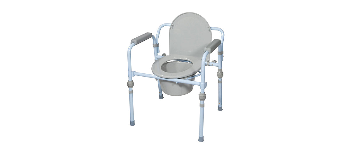 Commode Seat with Splash Guard by Drive Medical