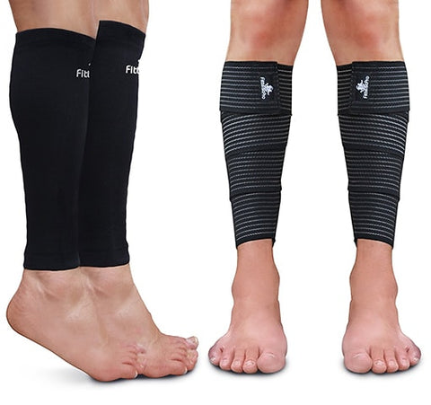 Compression Sleeves and Shin Braces by Fittest Pro