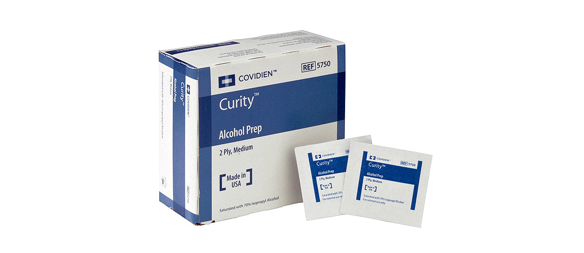 Curity Alcohol Prep Pads by COVIDIEN