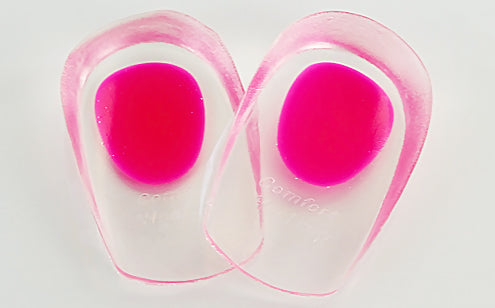 close up image of silicone gel heel cups