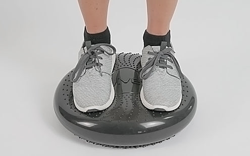 standing on balance disc