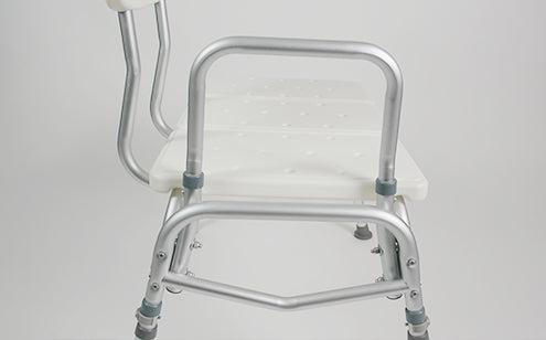 Transfer bench with aluminum frame
