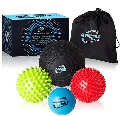 Deep Tissue Massage Ball Set by Invincible Fitness