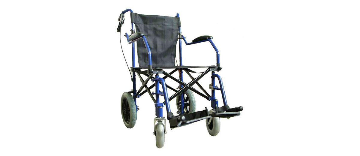 Deluxe Folding Transport Travel Wheelchair by Elite Care
