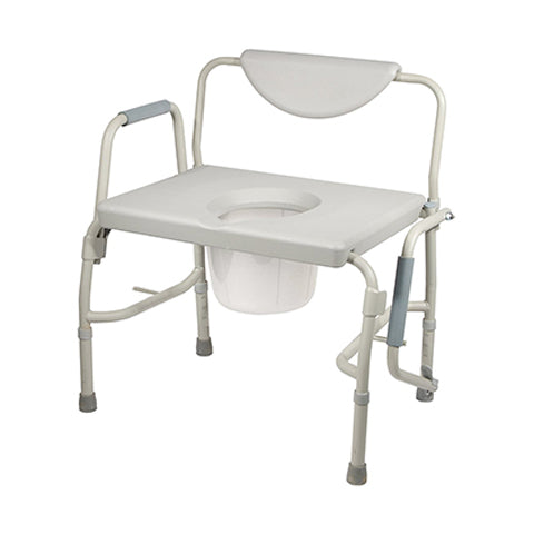 Deluxe Bariatric Drop-Arm Commode by Drive Medical