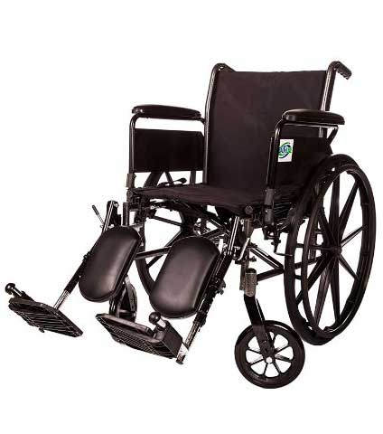 Detachable Arm and Leg Folding Wheelchair by Healthline Trading