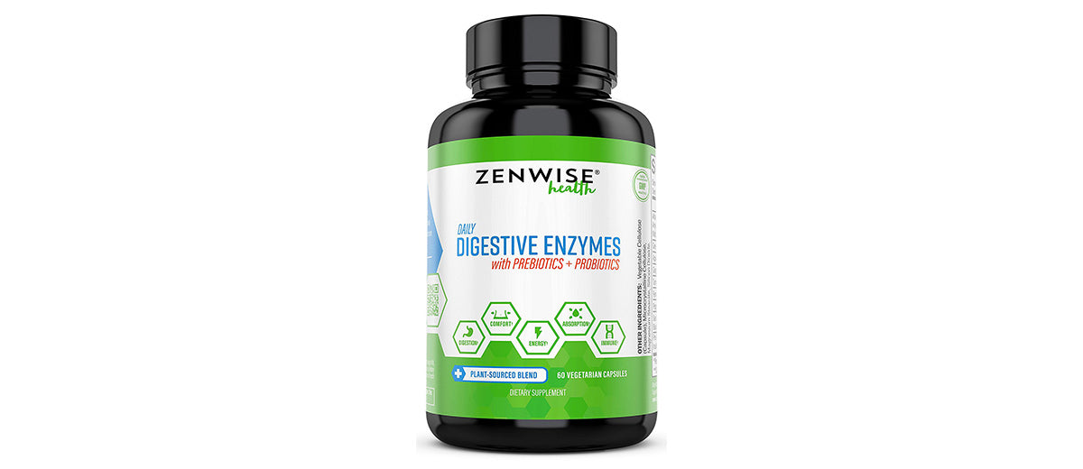 Digestive Enzymes Plus Probiotics by Zenwise Health
