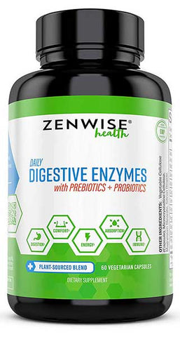 Digestive Enzymes Plus Prebiotics & Probiotics by  Zenwise Health