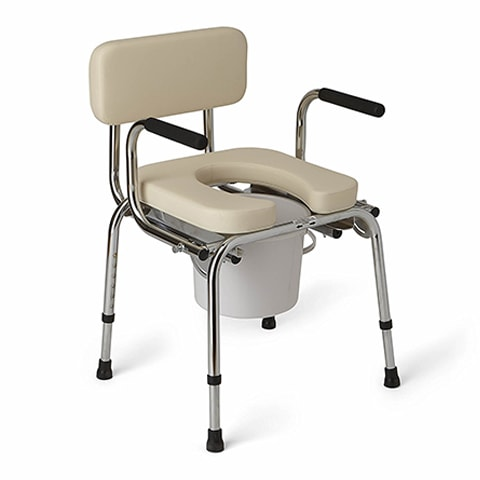 Drop-Arm Commode by Medline