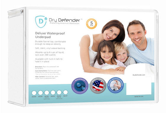 Washable Waterproof Mattress Protector by Dry Defender