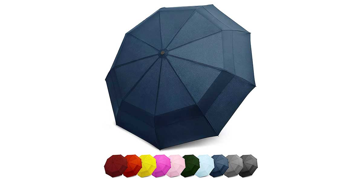 Travel Umbrella w/Windproof by EEZ-Y