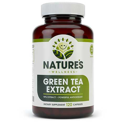 EGCG Green Tea Extract Capsules by Natures Wellness
