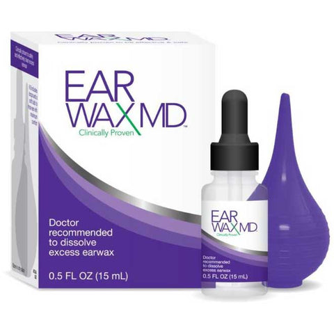 Ear Wax Removal Kit with Rinsing Bulb by Earwax MD