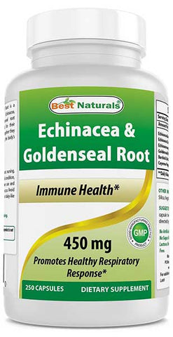Echinacea Goldenseal Capsules by Best Naturals