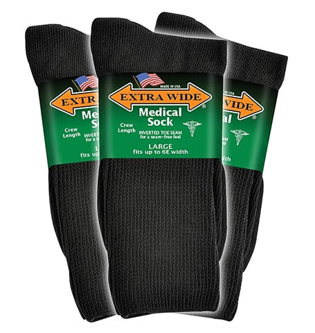 Extra-Wide Medical Socks for Men by Extra-Wide Sock Company