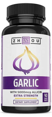 Extra Strength Garlic with Allicin by Zhou Nutrition