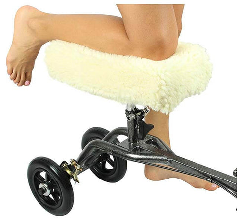Faux Sheep Skin Knee Walker Cover by Vive