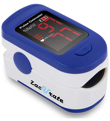 Fingertip Pulse Oximeter Blood Oxygen Saturation Monitor by Zacurate