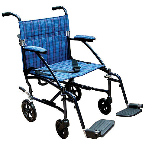 Fly Lite Ultra Lightweight Transport Wheelchair by Drive Medical
