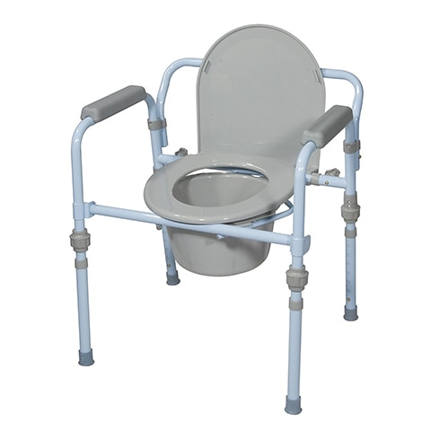 Folding Bedside Commode by Drive Medical