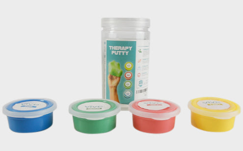 Therapy putty 4 color-coded resistant level