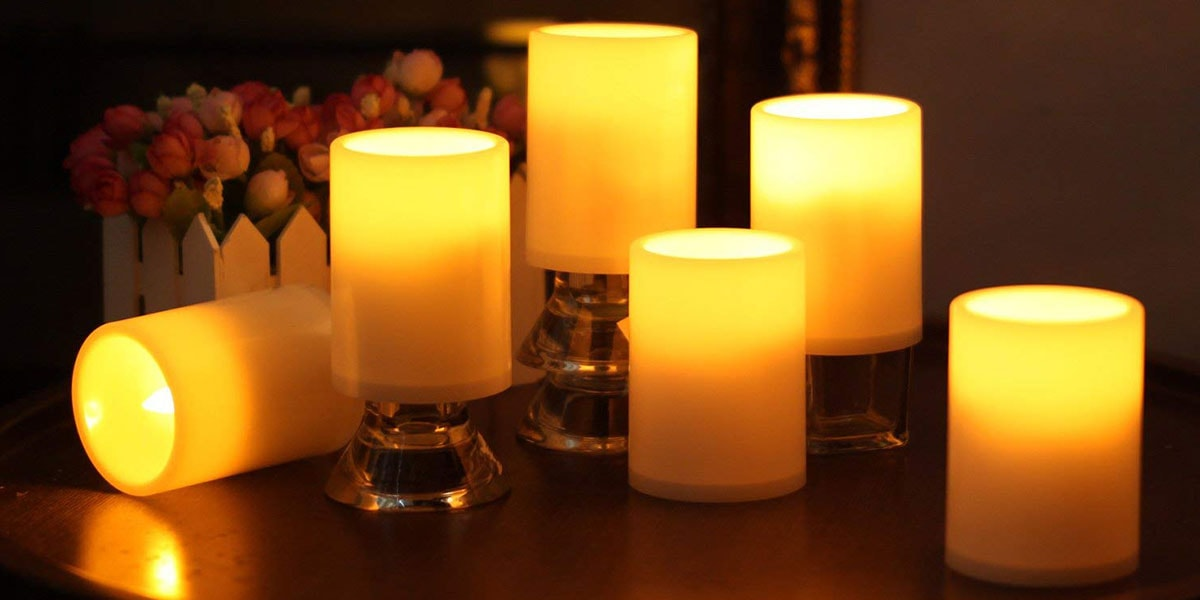 GiveU Flameless Plastic Led Candle with Timer