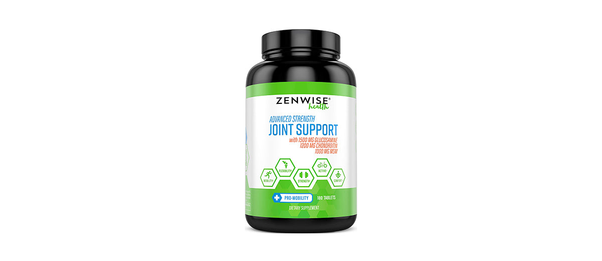 Glucosamine Sulfate and Chondroitin Extra Strength Joint Pain Relief Supplement by Zenwise Health