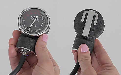 front and back of sphygmomanometer dial