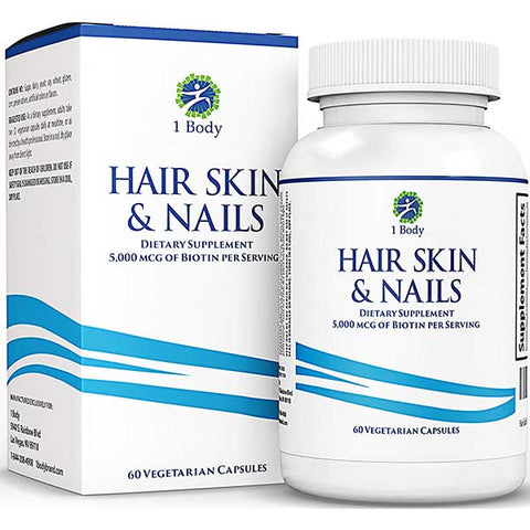 Hair, Skin and Nails Vitamins by 1 Body