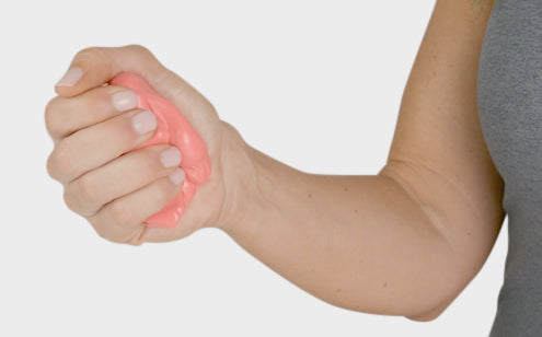 Squeezing therapy putty