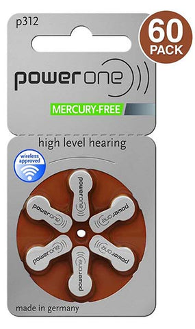 Hearing Aid Batteries by Power One