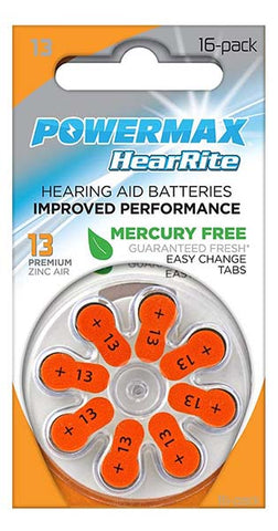 Hearing Aid Batteries by Powermax USA