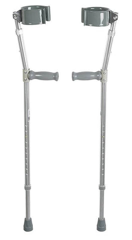 Heavy Duty Bariatric Steel Forearm Crutch by Drive Medical