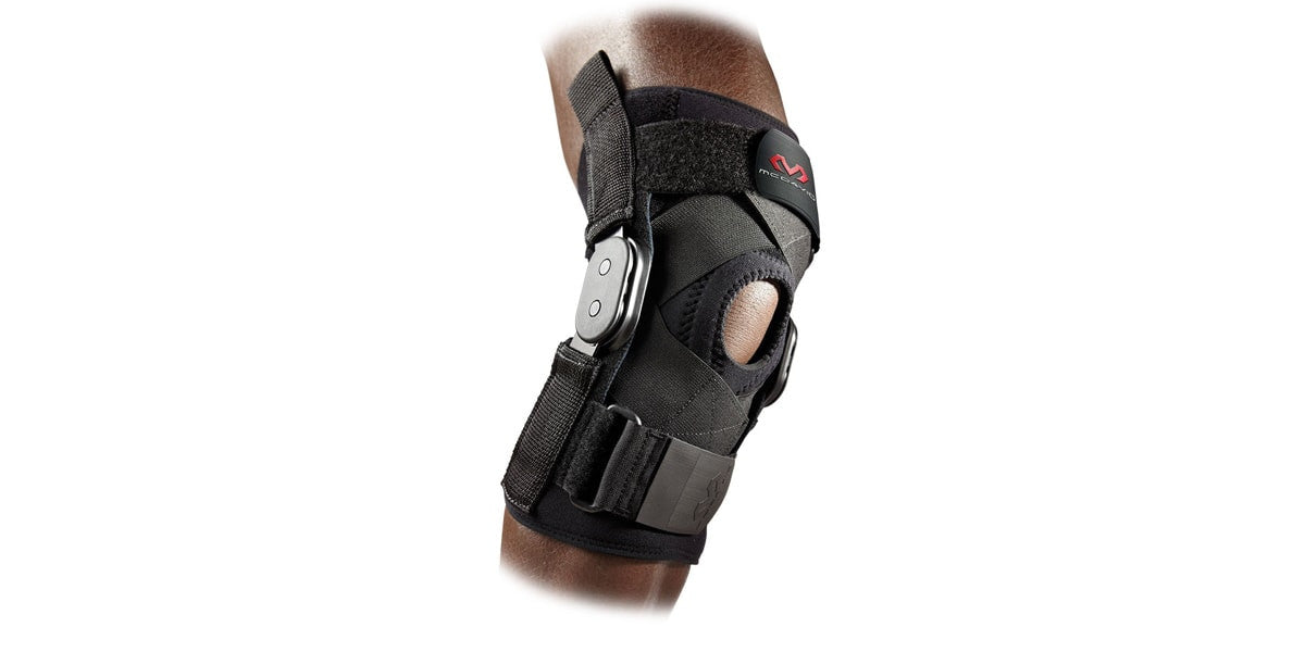 Hinged Knee Brace with Cross Straps by McDavid