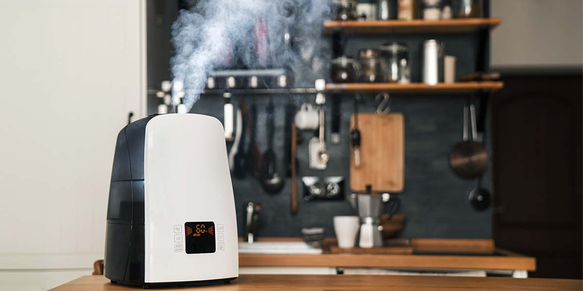Humidifier in a kitchen