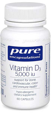 Hypoallergenic Vitamin D3 5,000 IU by Pure Encapsulations