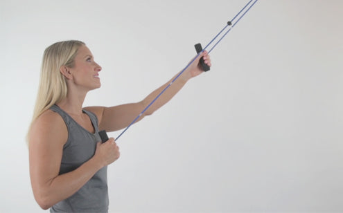 Woman doing pulley exercise