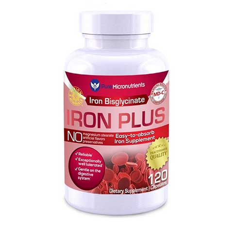Iron Plus Supplement by Pure Micronutrients