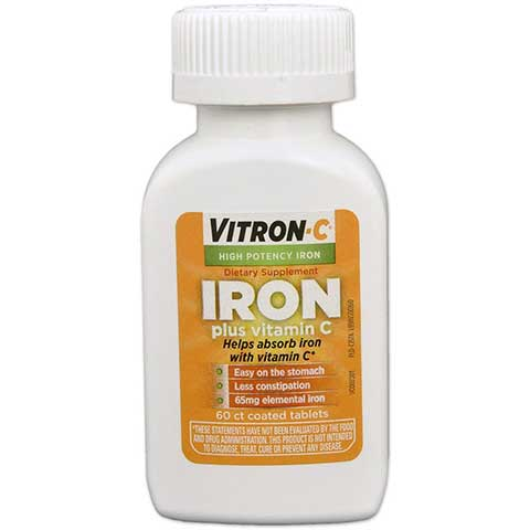 Iron Supplement with Vitamin C by Vitron-C
