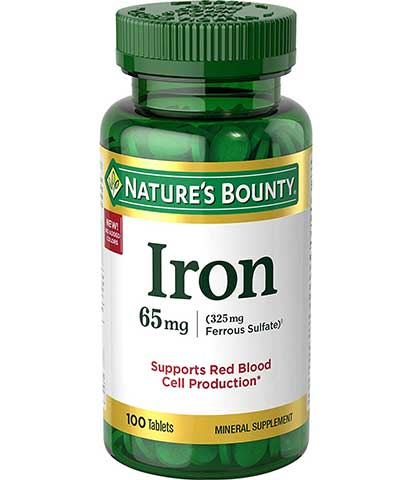 Iron Tablets by Nature's Bounty