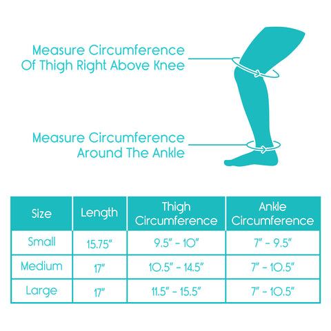 size chart for leg sleeves