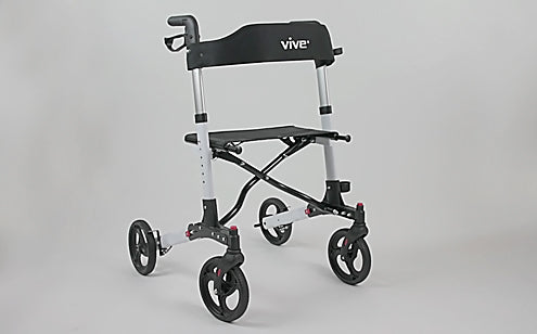 rollator without storage bag or cane holder